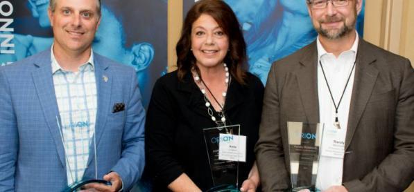 Prix ORION 2017 - Le professeur Stéphane Lévesque reçoit le Prix ORION Leadership 2017 pour son innovation en éducation avec l'Historien virtuel.